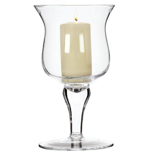 Glass Candle Holder 26cm